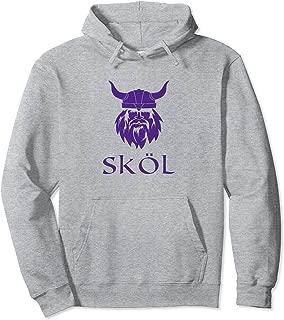 Viking Skol Hoodie Top Helmet Scandinavian Warrior Cool