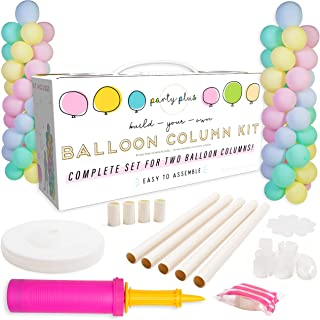 Balloon Column Kit with Base and Pole — Set of 2 | Balloon Columns with Stands | Tall Balloon Tower Decoration for Birthday Party, Bachelorette Party, Wedding, Baby Shower, Other Parties and Events