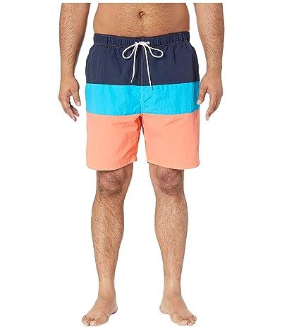 Nautica Big & Tall Big Tall Tri-Block Swim Trunk (Living Coral) Men