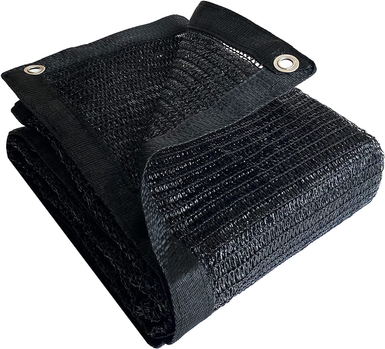 Yardmaker 50% Shade Cloth Max 55% OFF Black Sun Edge with Mesh Net Taped San Antonio Mall Gro