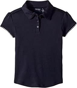 Short Sleeve Interlock Polo (Little Kids)