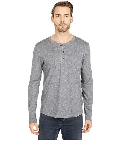 Alternative Pima Long Sleeve Henley (Oxford Grey) Men