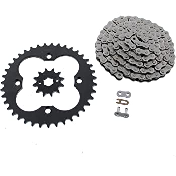 1993-1997 Fits Honda 300EX TRX300EX Blue Chain and Silver Sprocket 14//38 86L