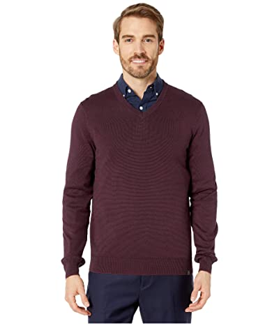 Perry Ellis End-On-End Feeder Stripe Long Sleeve Sweater (Fig) Men