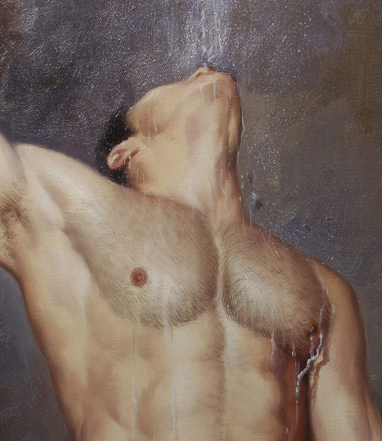 trust Art Prints Nude Male bathing men Transfe realism Canvas New arrival Painting