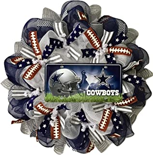 Dallas Cowboys Football Sports Wreath Handmade Deco Mesh