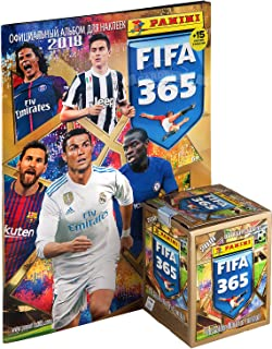 Panini FIFA 365 2018 2017 socccer Sticker 1 Sealed Box (50 Packs - 250 Stickers) + Album from Russia
