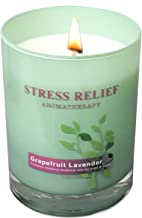 Scentsational Aromatherapy Scented Essential Oil Soy Candle Stress Relief (Grapefruit Lavender)
