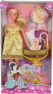 Simba 105737084Toys - Steffi Love Princess Royal Baby Playset, Gold
