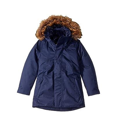 The North Face Kids Arctic Swirl Down Jacket (Little Kids/Big Kids) (Montague Blue) Girl