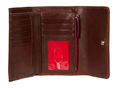 Dooney & Bourke Florentine Flap Wallet (Chestnut) Handbags