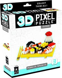 BePuzzled Deluxe 3D Pixel Puzzle - Sushi