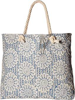 Echo Design Floral Embroidery Handbag