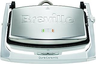 Breville DuraCeramic VST071X Sandwichera de tamaño mediano con revestimiento, 1000 W, 0 db, cerámica, Inox, planchas lisas...