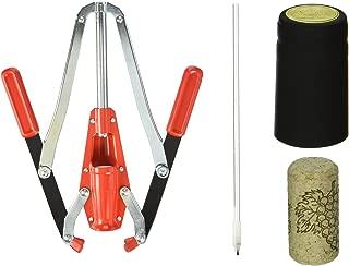 North Mountain Supply Corking Kit - Includes 30 Corks, Shrink Caps, Corker & Bottle Filler