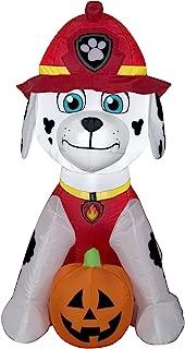 Gemmy Inflateables Holiday Fire Marshall Dalmation w/Jack O Lantern, 2'. W x 3'. H