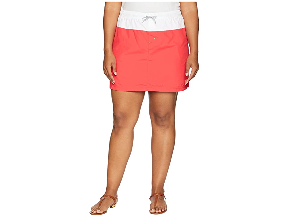 Columbia Plus Size Sandy River Skort (Red Camellia/White/Columbia Grey) Women