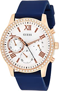 Guess Womens Quartz Watch, Analog Display and Silicone Strap W1135L3