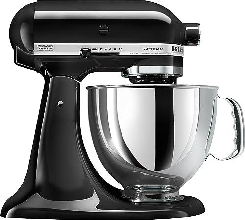 2021 KitchenAid outlet online sale KSM150PSOB Artisan Series 5-Qt. Stand Mixer with Pouring Shield outlet online sale - Onyx Black online sale