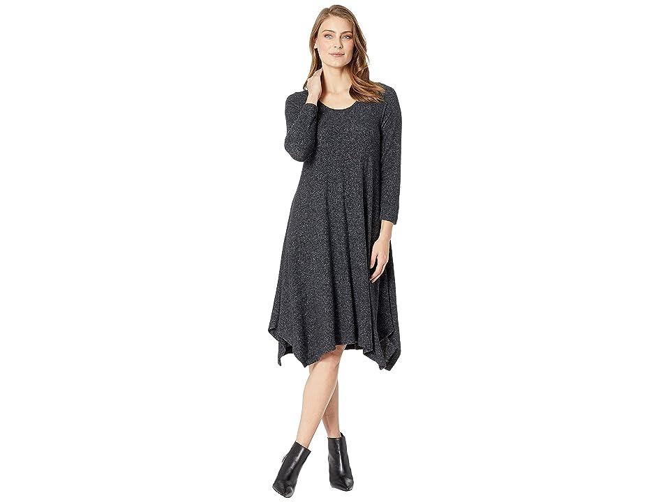 Nally & Millie Brushed Midi Dress (Black) Women