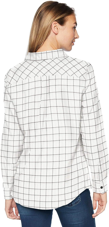 Essentials Womens Long-Sleeve Classic-Fit Lightweight Plaid Flannel Shirt Shirt