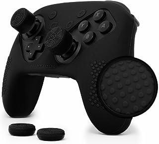 Nintendo Switch Pro Controller Skin Set by Foamy Lizard - AlphaPro Grip, STUDDED Sweat Free Silicone Cover w/ Flat Anti-sl...