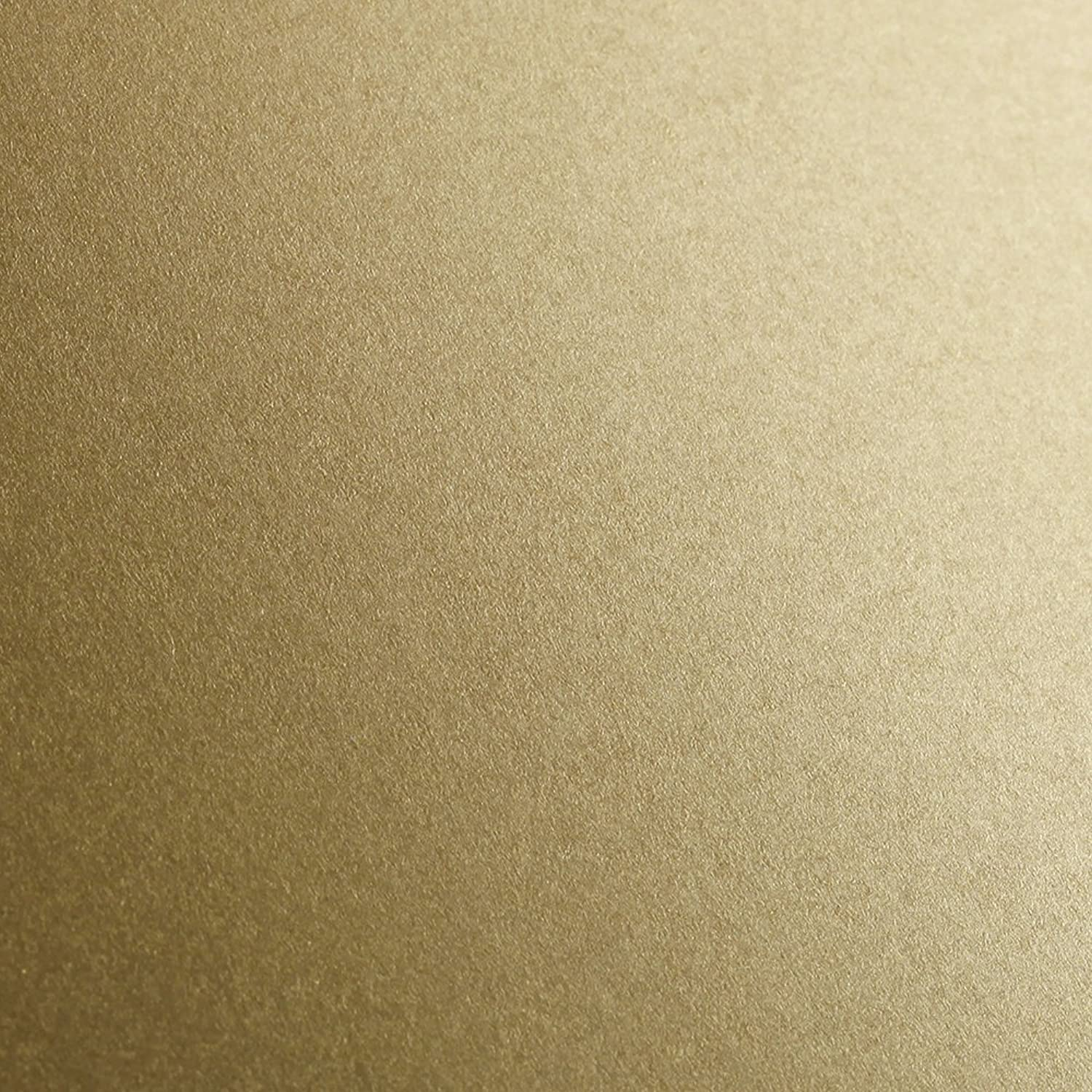 Clairefontaine Maya Coloured Smooth Drawing Paper, 270 g, 50 x 70 cm - Gold, Pack of 25 Sheets