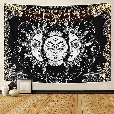 HZAMING Tapiz de tarot para colgar en la pared, diseño de mandala indio, bohemio, hippy playa (tapiz de tarot, 200 cm x 148 cm)