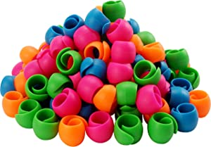 New Brothread 100pcs Thread Spool Savers / Spool Huggers - Prevent Thread Tails from Unwinding - No Loose Ends for Sewing and Embroidery Machine Thread Spools