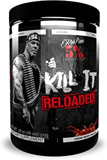 Rich Piana 5% Nutrition Kill It Reloaded Pre Workout (Cherry Berry) 18oz (513 Grams) 30 Servings
