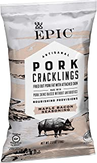 Epic Maple Bacon Pork Cracklings, Keto Consumer Friendly, 2.5oz