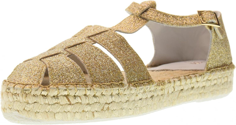 LAGOA JUNIOR shoes Woman Closed Sandal Valencia Junior Lurex Platino