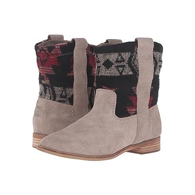 TOMS Laurel Boot (Desert Taupe Suede/Tribal Wool) Women
