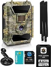دوربین های خلاقانه XP 4G Cellular Trail - دوربین WiFi فضای باز Full HD بازی وحشی با دید در شب برای شکار گوزن ، امنیت - ضد آب بی سیم و حرکت فعال شده - سیم کارت 32 گیگابایتی SD