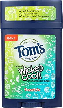 Tom's of Maine Wicked Cool! Teen Boys Natural Deodorant Freestyle, 2.25 oz