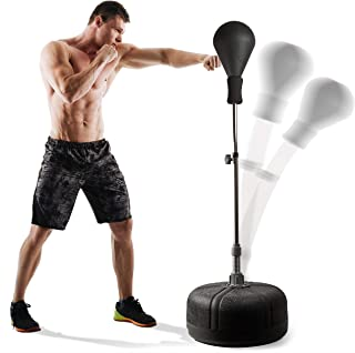 POWRX Punchingball I Standbox Trainer höjdjusterbar I Standboxball professionell justerbar 110-150 cm I Box Standboxtraine...