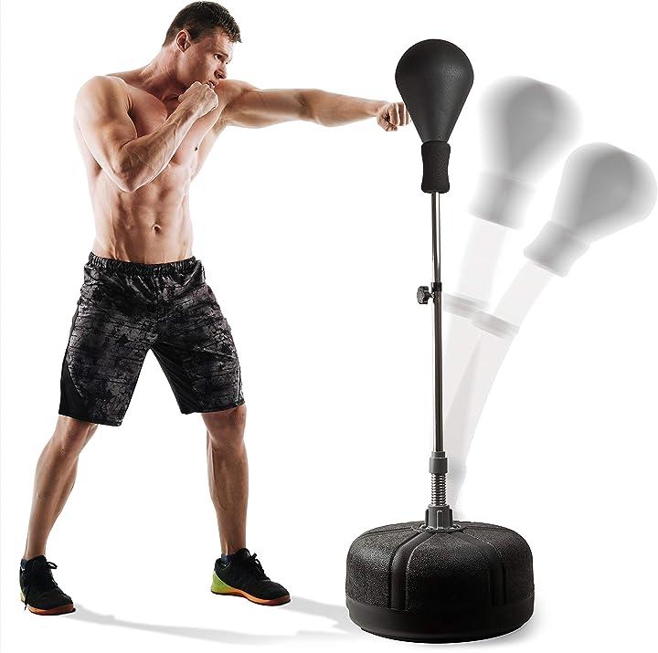 Punching ball boxe per adulti e adolescenti (nero) powrx B01MSZV683