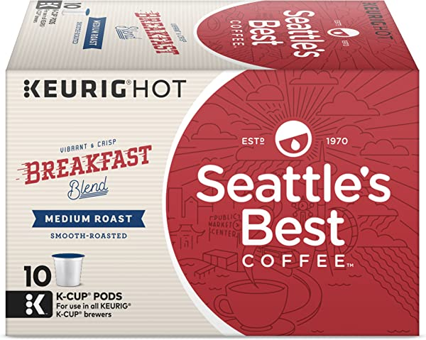 Seattle S Best Coffee Breakfast Blend Medium Roast Single Cup Coffee For Keurig Brewers 6 Boxes Of 10 60 Total K Cup Pods