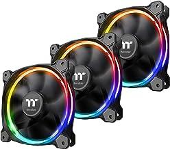 Thermaltake Riing 12 RGB Ventilador de caja Sync Edition (paquete de 3, compatible con ASUS, Gigabyte, MSI, Asrock y Biostar)