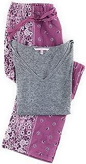 Victoria's Secret Pajama Set Mayfair Cotton Pants and Short Sleeve Tee