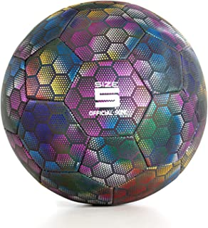 YANYODO Holographic Reflective Soccer Ball, Light up in...