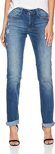 MAC JEANS Damen Anna Straight Jeans: : Bekleidung