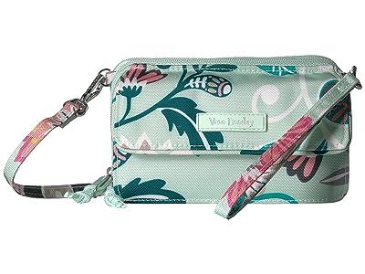 Vera Bradley Lighten Up RFID All-In-One Crossbody (Mint Flowers) Cross Body Handbags
