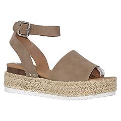 9169887b484c MVE Shoes Women s Open Toe Ankle Braid Strap Sandals - Cute E ..