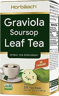 Graviola Soursop Tea | 20 Herbal Tea Bags | Caffeine Free | Vegetarian, Non-GMO & Gluten Free | by Horbaach