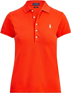 Ralph Lauren Sport Women's Interlock Polo Shirt (X-Small, Tomato)