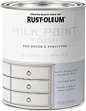 Rust-Oleum 331049 Milk Paint Finish, Quart, Classic White