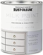 Rust-Oleum 331049 Finish Milk Paint, Quart, Classic White