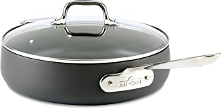 All-Clad 2100090554 E7853364 HA1 Hard Anodized Nonstick Dishwaher Safe PFOA Free Saute Pan Cookware, 4-Quart, Black