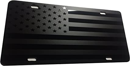 CustoMonsterDesigns American Flag US Flag License Plate Max Level Stealth Subdued Tactical S14
